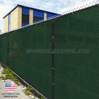 Customize Green 4 5 6 8 Tall Fence Privacy Wind Screen Mesh Fabric w Zip Tie