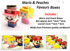 Super Mario Princess Peach Favour Boxes Table Accessories Birthday Party Kids