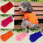 Small Pet Dog Puppy Cat Warm Sweater Clothes Knit Coat Winter Apparel Costume  Z