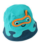Kids Boys Blue Snorkeling Bucket Holiday Sun Hat with Chin Strap Age 1 to 6