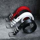 ByTheR Men's Fashion Silver Chrome Color 3 Locking Leather Strap Buckle Belt UK