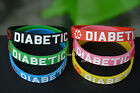 Diabetic Easy To See & Read Diabetes for Awareness silicon Wristband