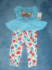 NWT Kids Headquarters Girls 2 piece Butterfly Pant Set Size 3T 4T