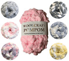Woolcraft Pom Pom Wool Yarn Knitting 200g Ball Ideal for Blankets / Scarves