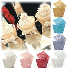 50 Filigree Little Vine Lace Laser Cut Cupcake Wrapper Liner Baking Cup Tide JR