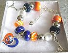 NHL NEW YORK ISLANDERS Crystal European Team Charm Bracelet  FREE SHIPPING!!! $32.49 USD on eBay