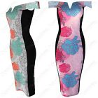 NEW WOMEN LADIES BARDOT OFF SHOULDER FLORAL PRINT DRESS SLIMMING EFFECT BODYCON
