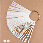50Pcs False Nail Art Tips Sticks polish Display Fan for Practice Salon Tool