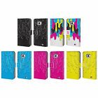 HEAD CASE DESIGNS CMYK MELTDOWN LEATHER BOOK CASE FOR SAMSUNG GALAXY S2 II
