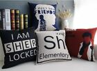 """Blue & Red Sherlock Holmes Moive Decor Pillow Case Cushion Cover Square 45cm 18"""""""