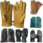 Mens Womens 100% Genuine Leather Waterproof Motocycle Soft Gloves