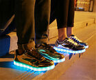 New Women/Men's Couple Shoes Night Light Trainer Breathable Lace-up LED Sneakers