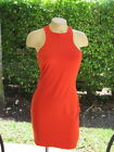 BEBE dress Side Mesh Insert Zipper Back Dress 199517 ORANGE XS S M L
