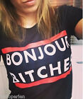 Fashion Ladies Womens Letter Printed T-shirt Casual Crew Neck Tops Dress