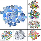 BD 10x Glass Mix 20mm Square Dome Cameo Cabochon for Jewellery&Model Making