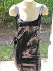 BEBE dress bandage wraping bands sequin black xs s m 203052