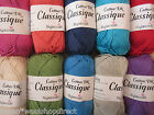 50g BALLS PURE COTTON DK - STYLECRAFT CLASSIQUE COTTON DOUBLE KNITTING YARN