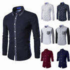 Hot Mens Luxury Stylish Casual Dress Slim T-Shirt Casual Long Sleeve Collection