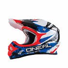 O'Neal Adult & Youth Black/Red/White 3 Series Shocker Dirt Bike Helmet MX ATV