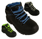 Kids Boys Leather School Hiker Ankle Boots Black Boots Shoes Lace Up Style New