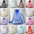 "200 pcs 5x7"" ORGANZA BAGS Pouches for Wedding FAVORS Drawstring Gift Packaging"