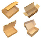Brown Parcel Sized Die Cut Folding Post Postal Packing Boxes Cartons 6 Sizes