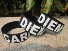 "Carpe Diem Wristband Filled in colour Silicon Bracelet 1"" Band"