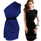 Sexy Women Clubwear Cocktail Party One off Shoulder Sleeveless Dress