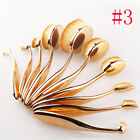 Set of 10 Makeup Brushes Toothbrush Eyebrow Oval Powder Cream Foundation Brush