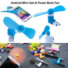 2 in 1 USB + MICRO Portable Mini Fan Cooling Mobile Power For Android Samsung LG