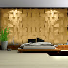 Photo Wallpaper GOLD SQUARE IN 3D Wall Mural (3168VE)