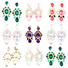 Sweet looking crystal chandelier stud earrings, multiple colours
