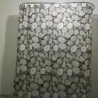 Pebbles Pattern Bathroom Shower Curtain Polyester 12pcs Ring Pull Home Decor