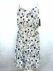 ZARA FLORAL PRINT SUMMER MIDI DRESS SIZE LARGE REF 2345 153