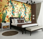 Photo Wallpaper VINTAGE PATTERN PEACOCK AND FLOWERS Wall Mural (3584VE)