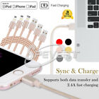 1M 2M 3M Nylon Braided Sync Data USB Charger Cable for iphone 5 5S 6 6s 7 8 Plus