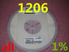 New 100PCS 1206 1% SMD Chip Resistors SMT Resistance 0R to 91R Ohm Free Shipping