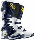Fox Racing Comp 5 2015 Youth Limited Edition MX/Offroad Boots White/Blue/Yellow