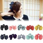 Women Scrunchie Ponytail Holder Satin Ribbon Bow Hair Tie Band Hair Rope Cute
