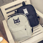 New Women Cat Canvas Backpack Bag Girls Bookbags Casual Travel Shoulder Bags
