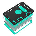 Heavy Duty Hybrid Robot Rubber+PC Shockproof Survival Hard Case For Various iPad