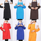 Unisex Plain Apron With Front Pocket For Chefs Kitchen Cooking Craft Baking BBQ