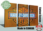 "Harley Davidson Canvas print, Huge size 60""x40"", READY TO HANG option"