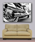 "harley davidson motorbike, Huge canvas print, 30"" x 40"", wall art decor"