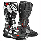 NEW SIDI CROSSFIRE 2 TA MX MOTOCROSS DIRTBIKE BOOTS BLACK/WHITE ALL SIZES