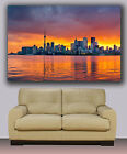 "Toronto sunset skyline, Huge canvas print, modern art, wall decoration 30""x40"""
