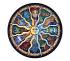 Twelve Zodiac Signs Plate Artistic Tapestry Needlepoint Canvas 177