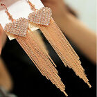 Crystal Rhinestone Women Ear Long Fashion Elegant Hook Tassel Earring