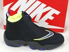 Nike Air Zoom Flight The Glove SBlack Purple Volt Basketball Shoes 616772-003