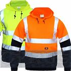 Dickies Hi Vis Viz High Visibility Hoodie Hoody Hooded Sweatshirt Jumper 2 tone